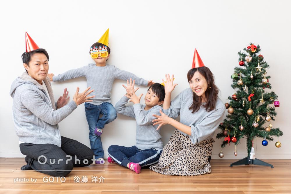 ご自宅と近所の公園で「イベントではない日常シーン」の冬の家族写真撮影