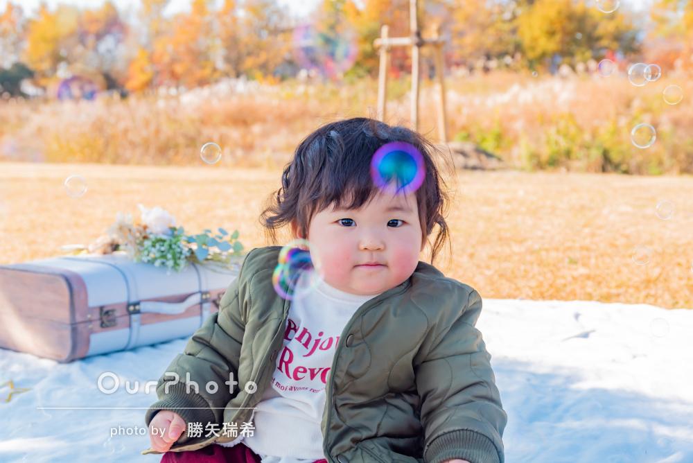 「娘もとても懐いていました」1歳の誕生日記念に家族写真の撮影