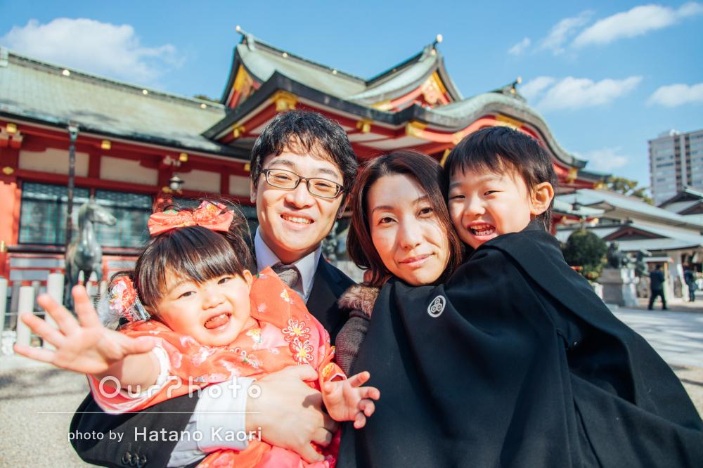 「生き生きとした表情や自然な笑顔がたくさん」七五三詣りの撮影