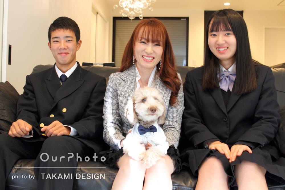 年賀状用にも!「さすがプロだなと思う素敵な写真」家族写真の撮影