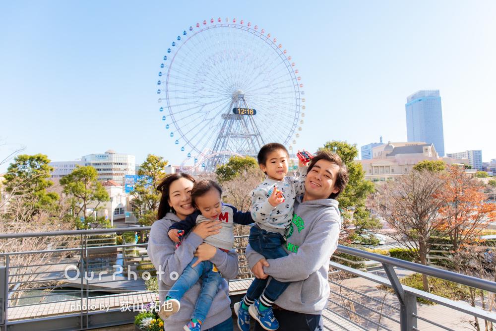 「シーン豊富な写真が出来上がり嬉しいです」家族写真の撮影