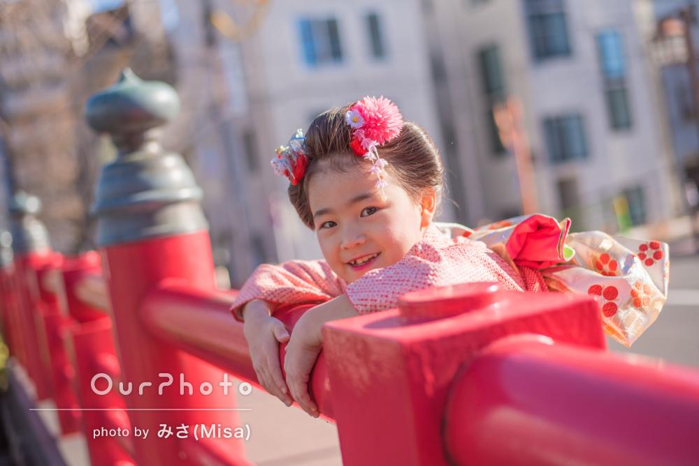 「娘も打ち解けて、自然といつも通りの笑顔に」7歳七五三の撮影
