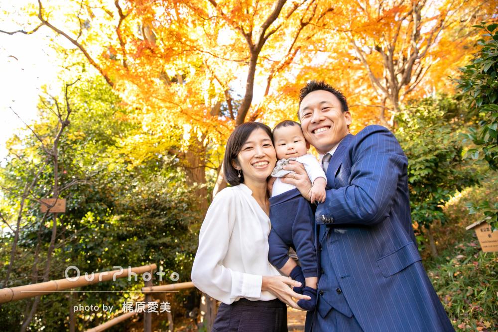 「的確な指示であっという間」ハーフバースデー記念に年賀状用の家族写真