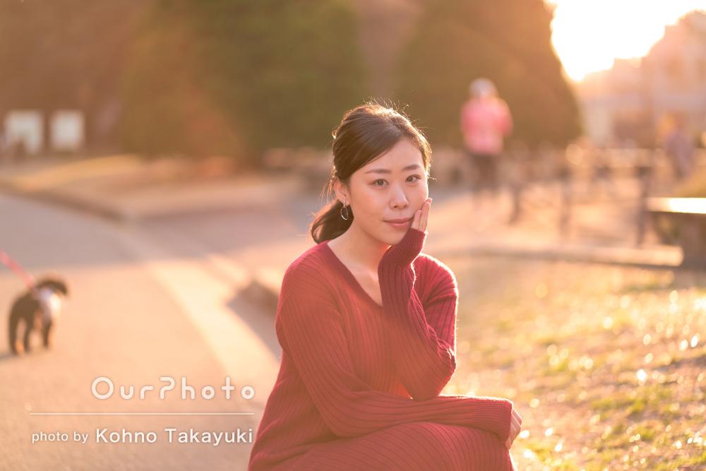 ナチュラルな笑顔が素敵な女性のプロフィール写真の撮影