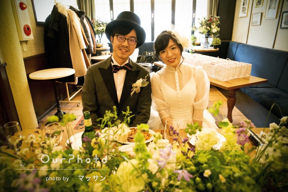「とても素敵で本当にいい思い出」レストランで結婚式二次会の撮影