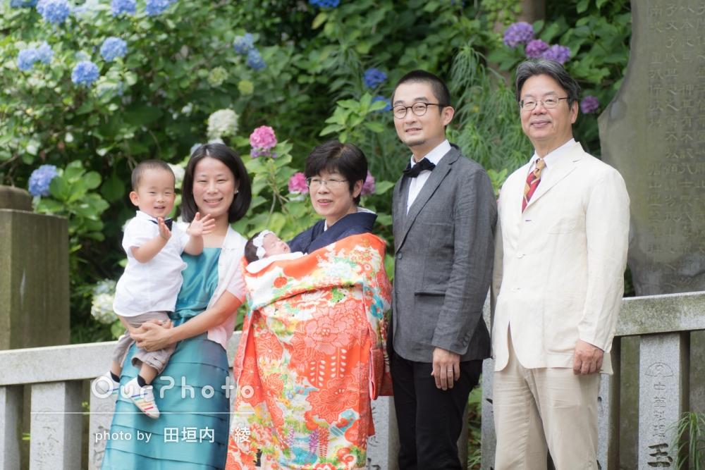「子どもに合わせたペースで撮影してくださったので、家族全員で楽しめました」お宮参りの撮影