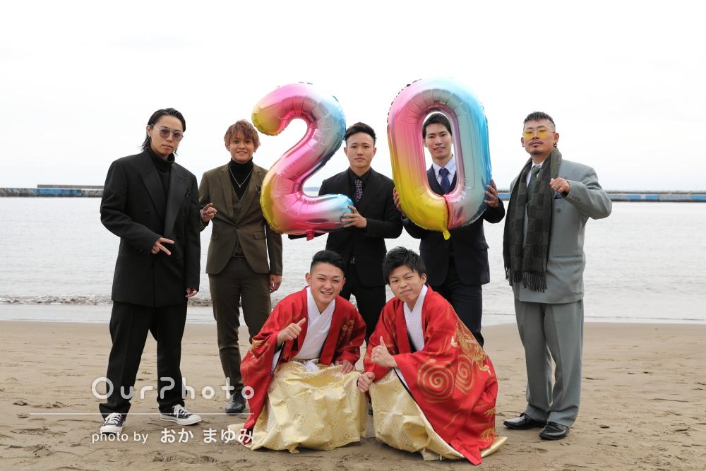 20歳の記念に友人たちで!みんな大満足な成人式の撮影
