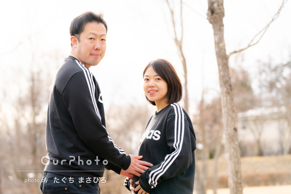 「妊婦の妻を気遣っていただき」マタニティフォトの撮影
