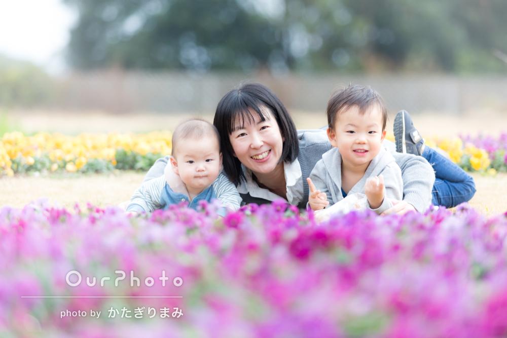 「子供の撮影にとてもなれていらっしゃるので安心」家族写真の撮影