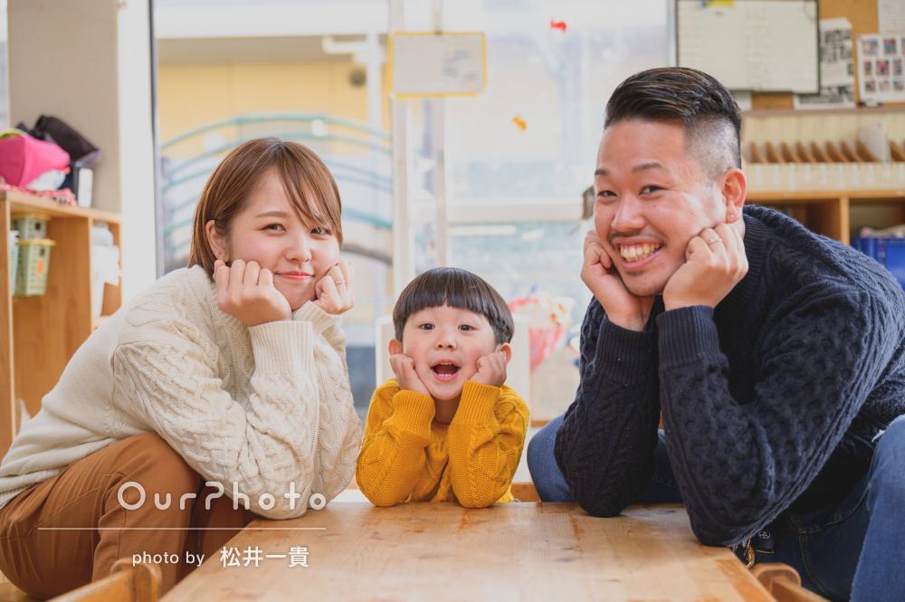 「何気ない場所が、また違った素敵なロケーションに」家族写真の撮影
