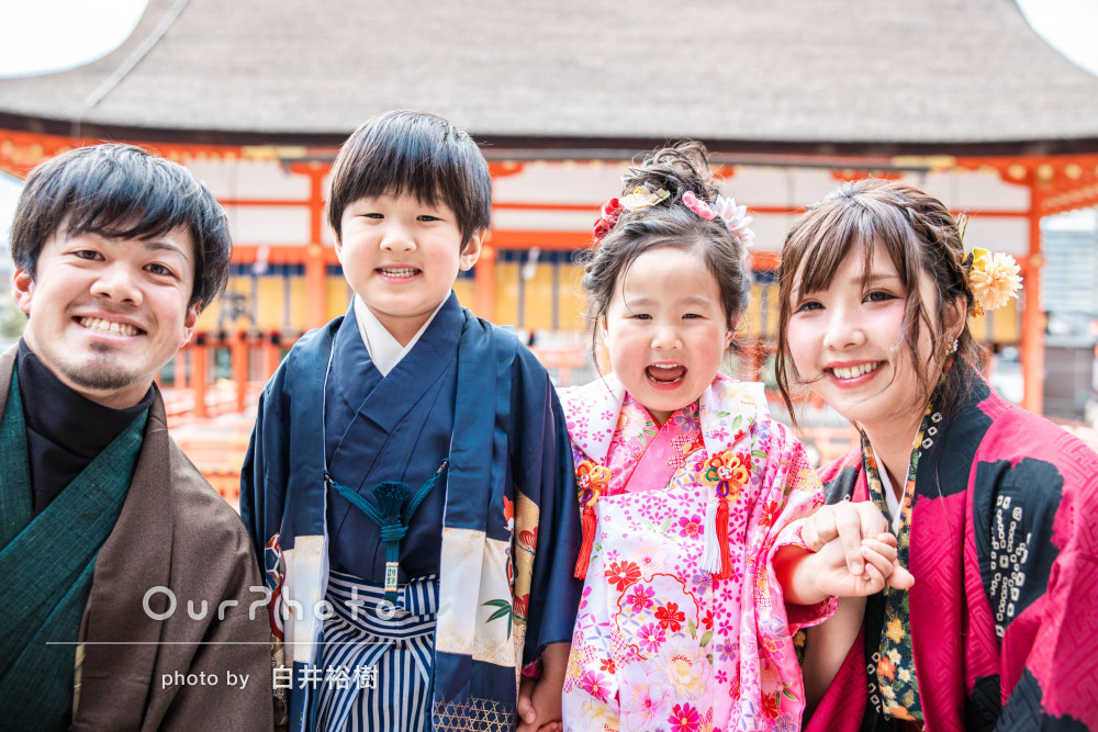 「お願いして本当に良かった」家族の笑顔がとても素敵な七五三の撮影