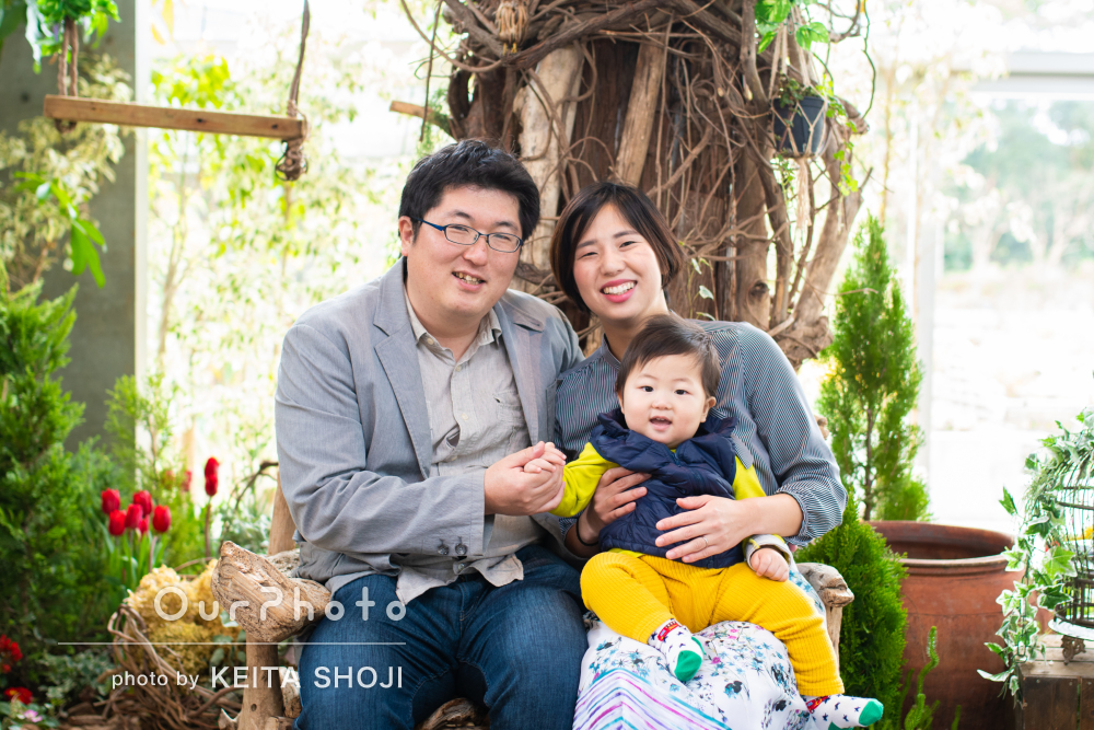 「子供のキラキラした表情を沢山写真におさめて下さり」家族写真の撮影