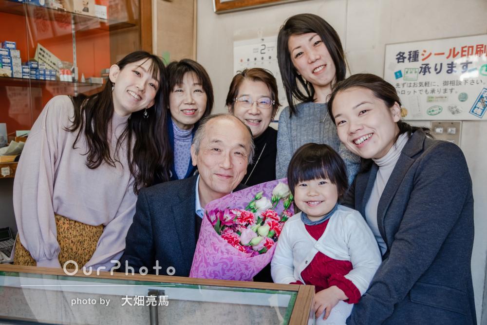 「出来上がりも大変満足いくもので感激」大切な思い出と共に家族写真撮影