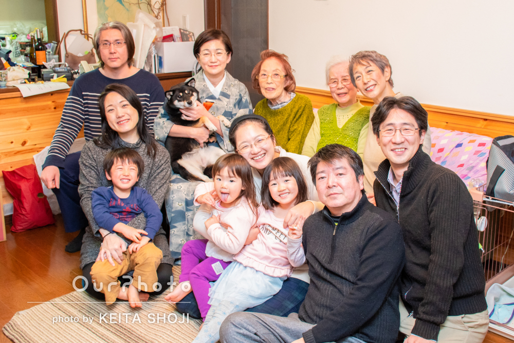 「年二回五年間利用しており、対応やクオリティがとても良く」家族で撮影