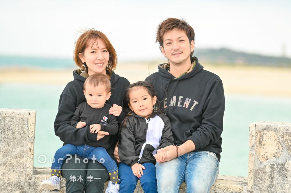 「気さくな雰囲気で楽しく」沖縄にて家族写真の撮影