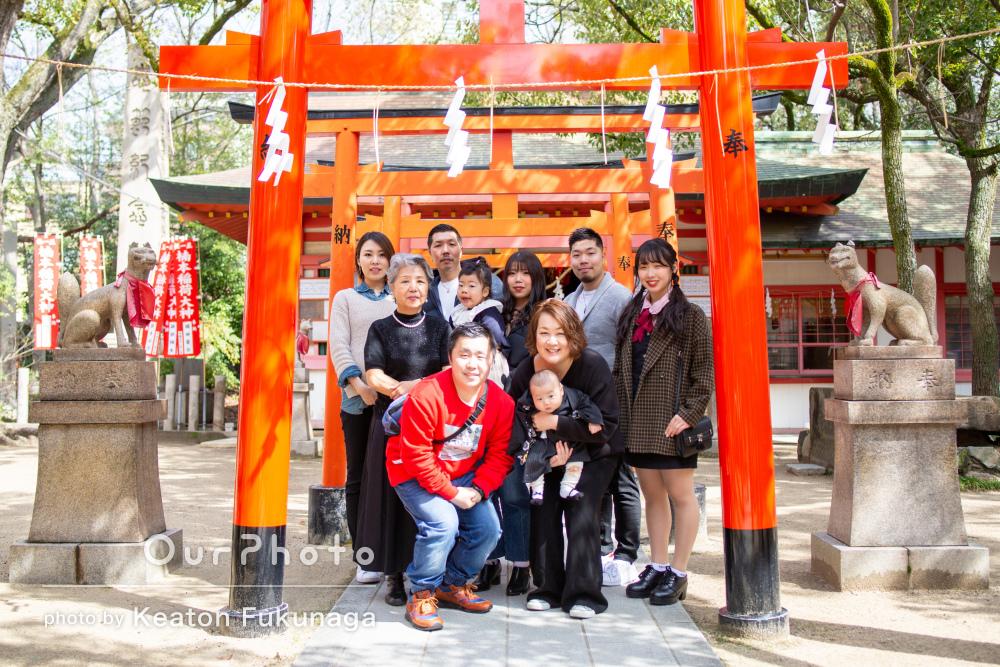 神社と料亭で「特別な撮影会」家族みんなで百日祝い・お食い始めの撮影
