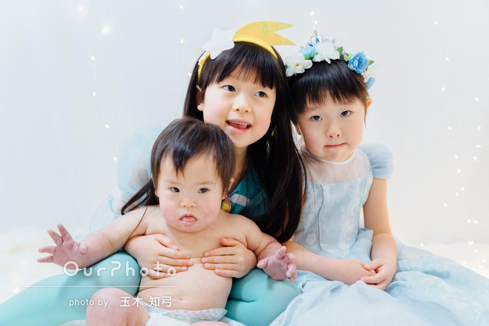 「常に笑顔で明るく接して下さり」賑やかな家族写真の撮影