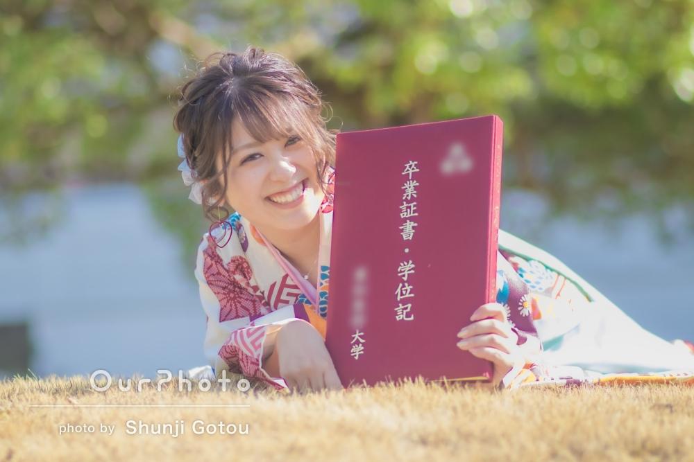 「色んなパターンの素敵すぎる写真」袴姿で友だちと大学卒業記念写真