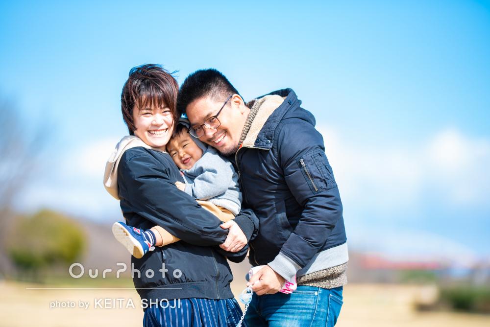 「撮影も楽しく出来ました」家族写真の撮影