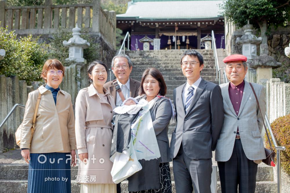 「大変良い表情の写真をたくさん」ご家族の笑顔が優しいお宮参りの撮影