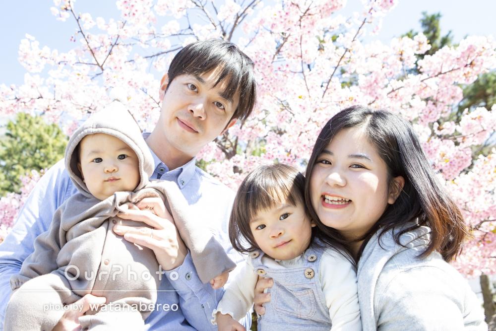 「お気に入りにしたい写真が何枚も」桜の季節!家族で公園遊びの撮影