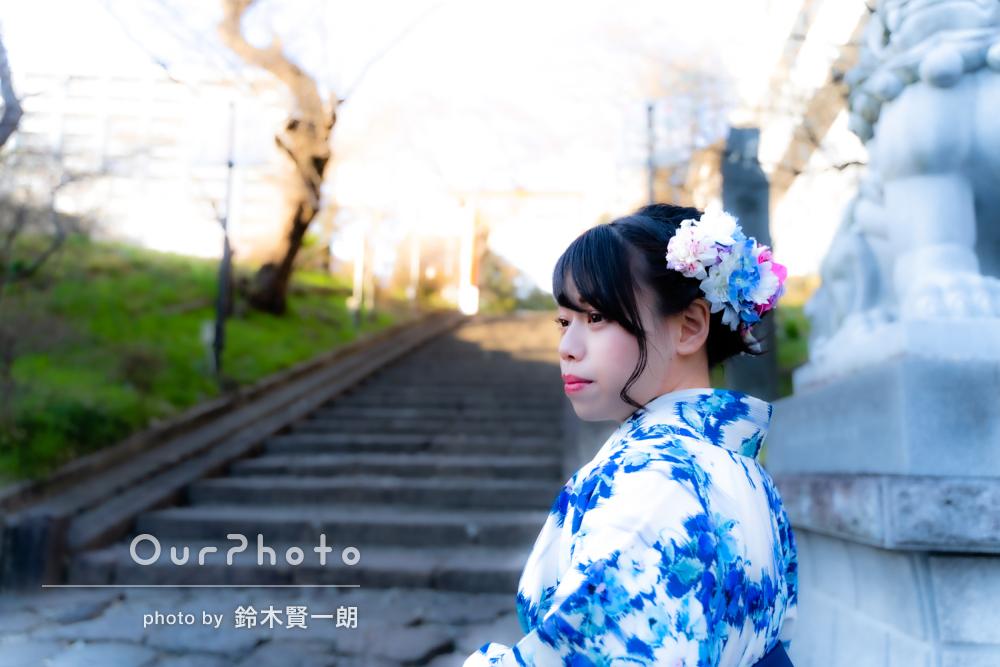 「撮影中も優しく丁寧な対応」大学卒業の記念に袴姿で記念写真を撮影