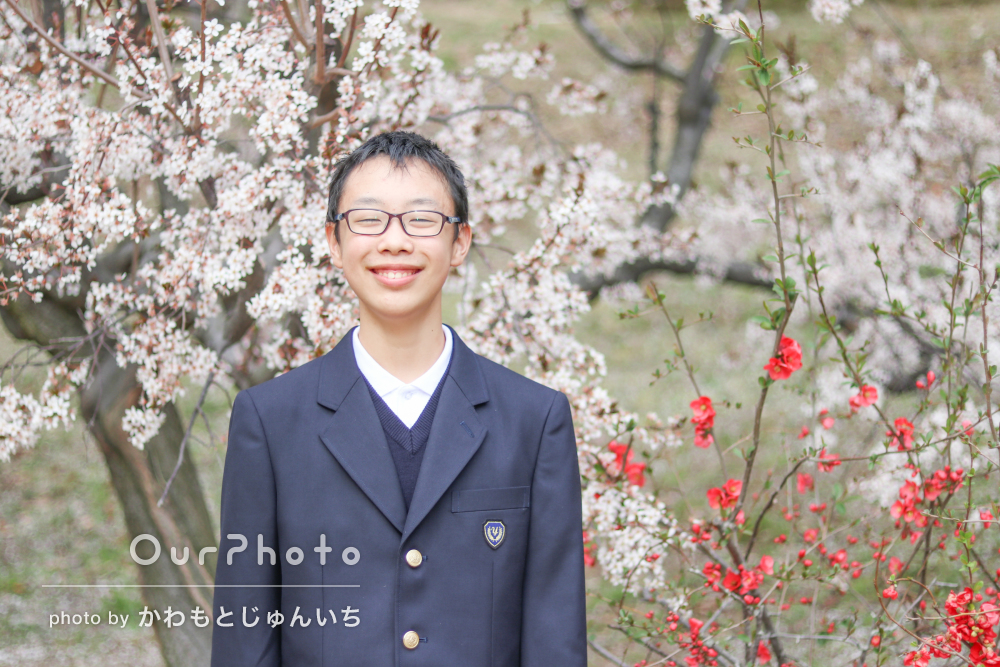 「暖かい雰囲気で素敵」卒業の記念に笑顔いっぱいの家族写真の撮影