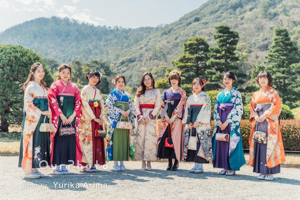 「とても楽しい撮影でした」卒業記念に華やかな袴姿が並ぶ友フォトの撮影