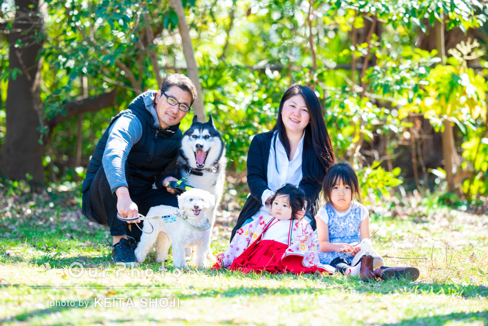 「素敵なお写真に家族みんなよろこんで」自然に囲まれて家族写真の撮影
