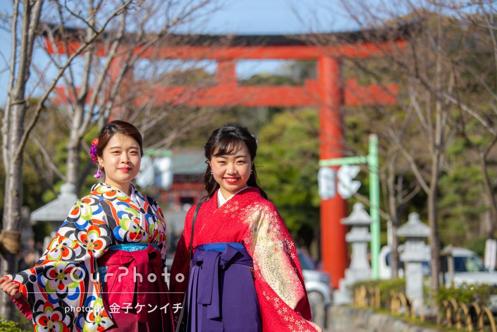 「素敵な思い出となりました」卒業記念におしゃれな袴姿で友フォトの撮影