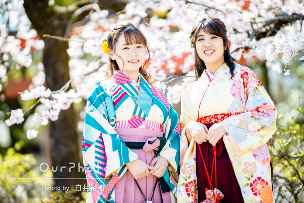 「大学卒業のいい思い出になりました」美しい袴で友フォトの撮影