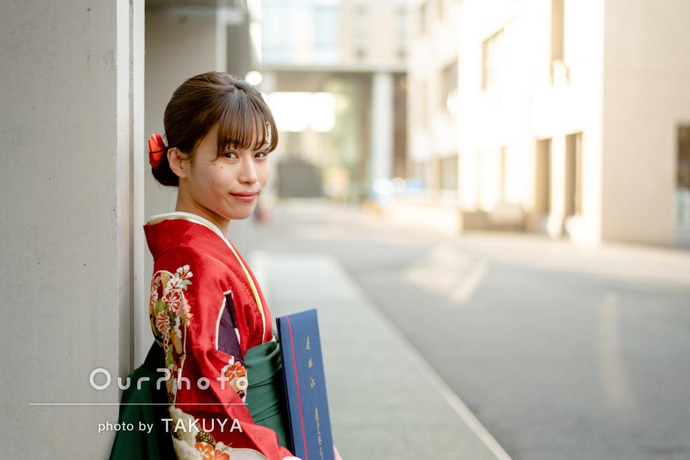 「とても貴重な体験で思い出になりました」大学卒業記念の写真撮影