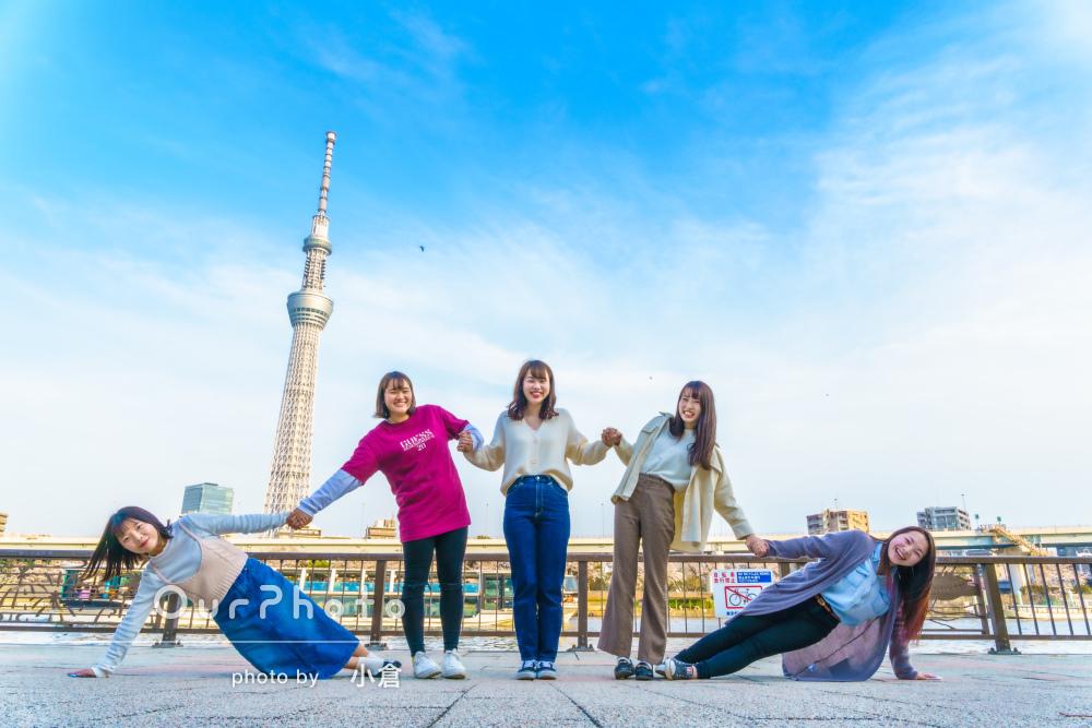 「素敵な写真をたくさん撮っていただき」友達と楽しい東京散策の写真撮影