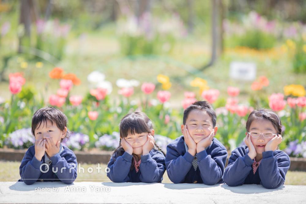 「笑顔を引き出すような雰囲気作り」お友達親子で友フォトの撮影