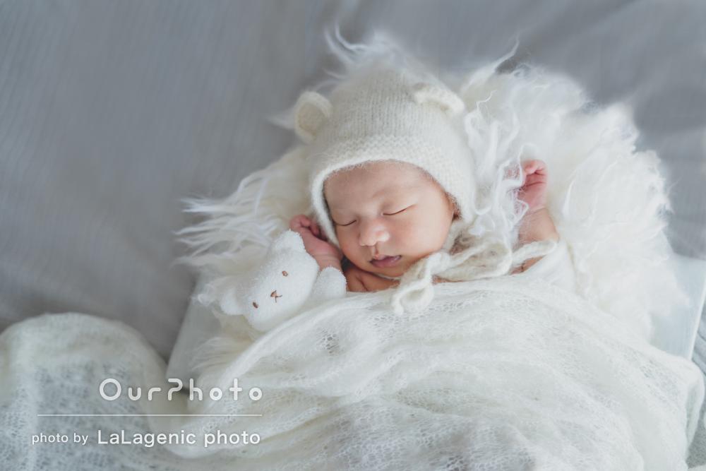 「赤ちゃんに対しての思いがすごく伝わる」ニューボーンフォトの撮影