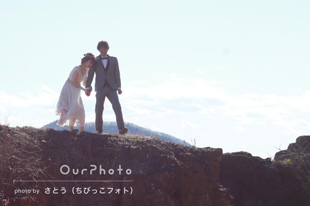 ご夫婦でドレスアップして素敵な世界観の中でカップル写真の撮影