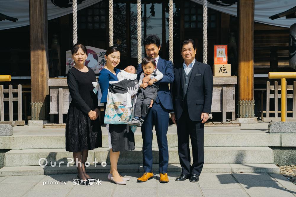 「2歳の長男も終始ご機嫌」ご家族の笑顔が溢れるお宮参りの撮影
