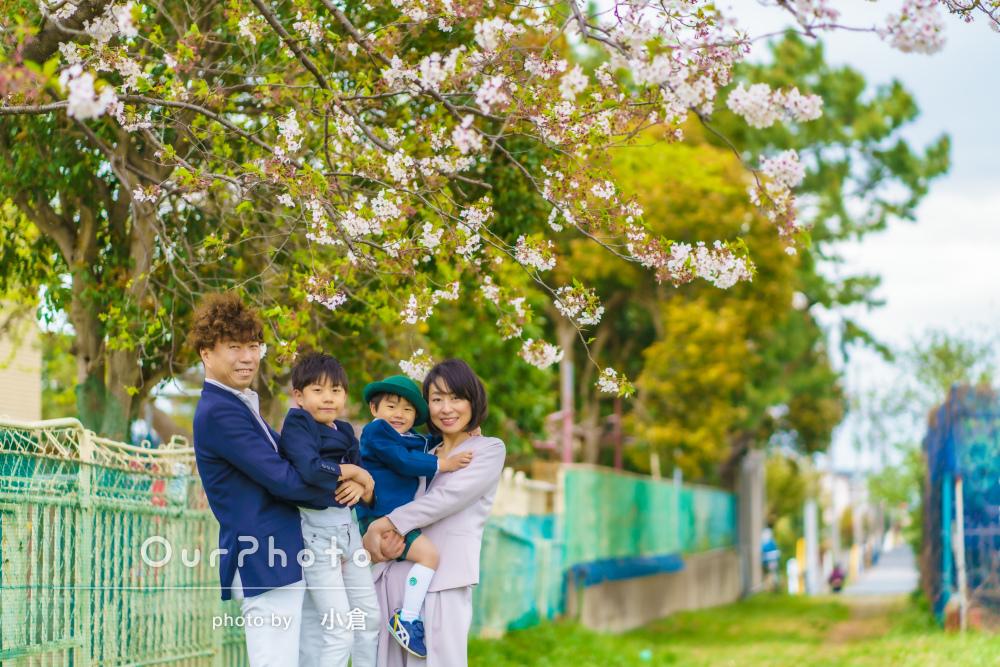 「きれいなお写真を撮っていただき、ありがとう」家族写真の撮影