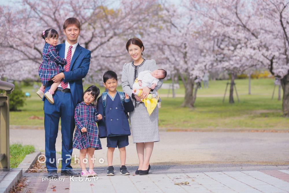 「とても素敵な写真を撮っていただき」家族写真の撮影