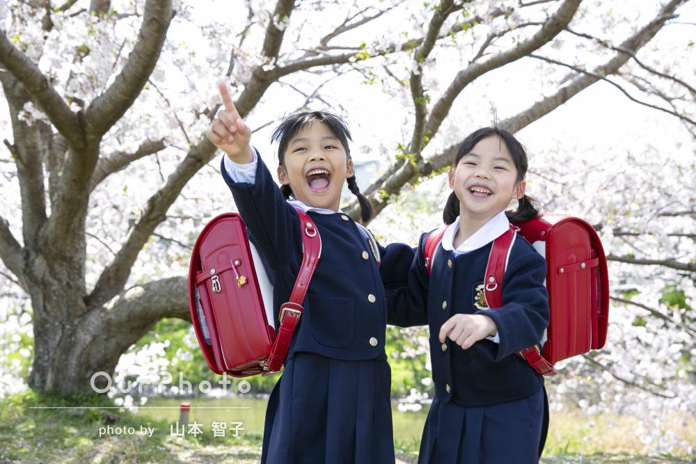 「とても信頼できる誠実な写真家さん」笑顔が弾ける!入学記念の撮影