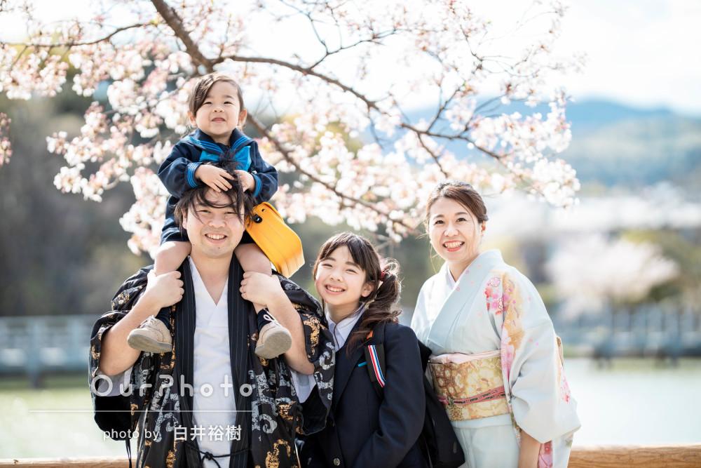 「なんとも言えぬ柔らかい感じ」入園入学記念にリピーターご家族の撮影