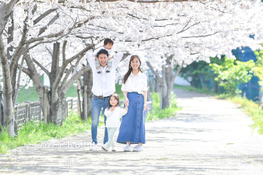 「目で見るよりも綺麗な桜」1歳のバースデー記念にリピート撮影