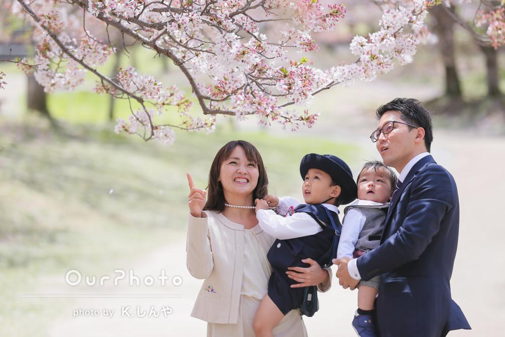 「あたたかい雰囲気」と穏やかな表情が素敵!入園記念に家族写真の撮影