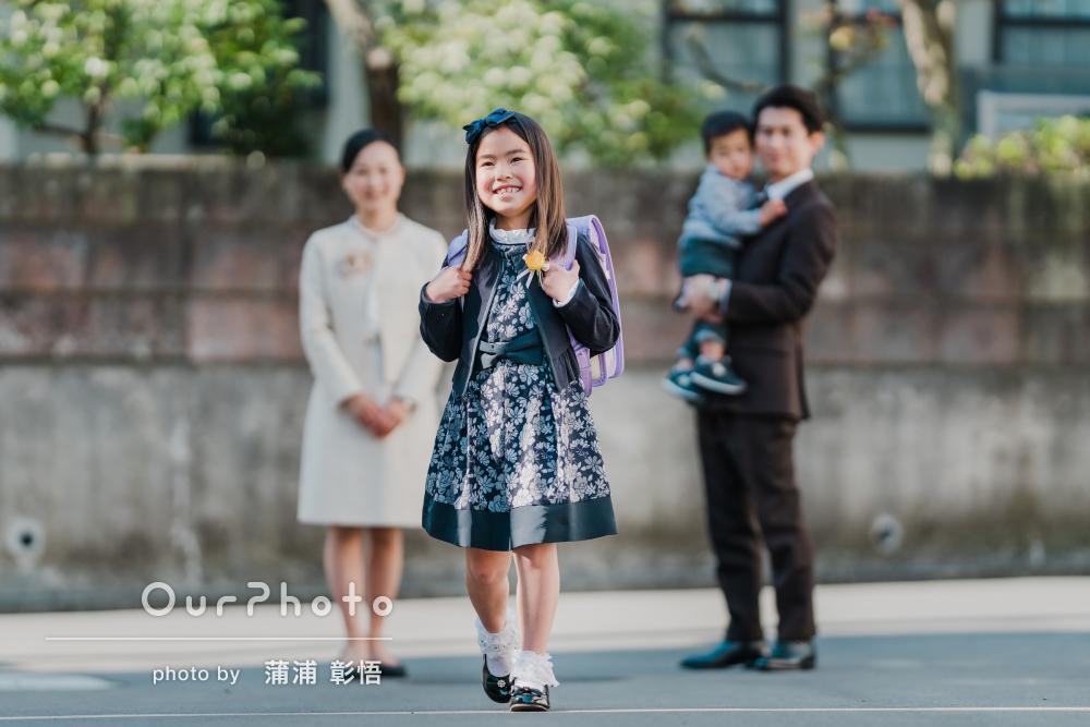 「優しい色彩のきれいな写真」入学式当日の様子を記録したご家族の撮影