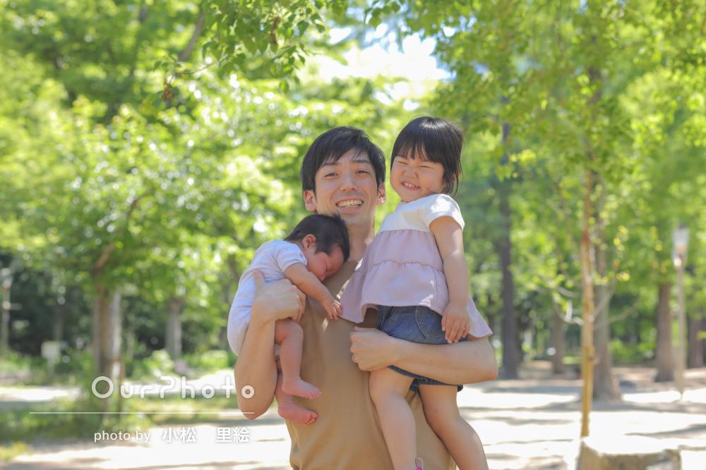 「とても良い笑顔の写真を撮影いただき大満足です」家族写真の撮影