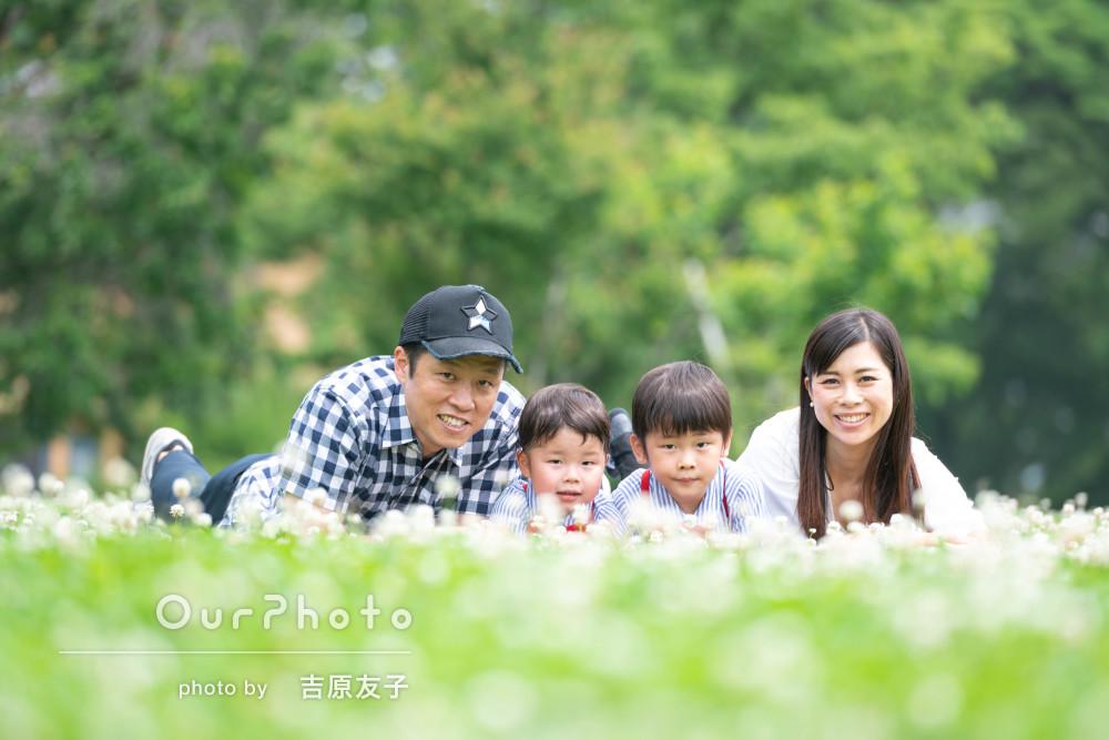 「心地よい時間が過ごせ、思い出になりました」家族写真の撮影