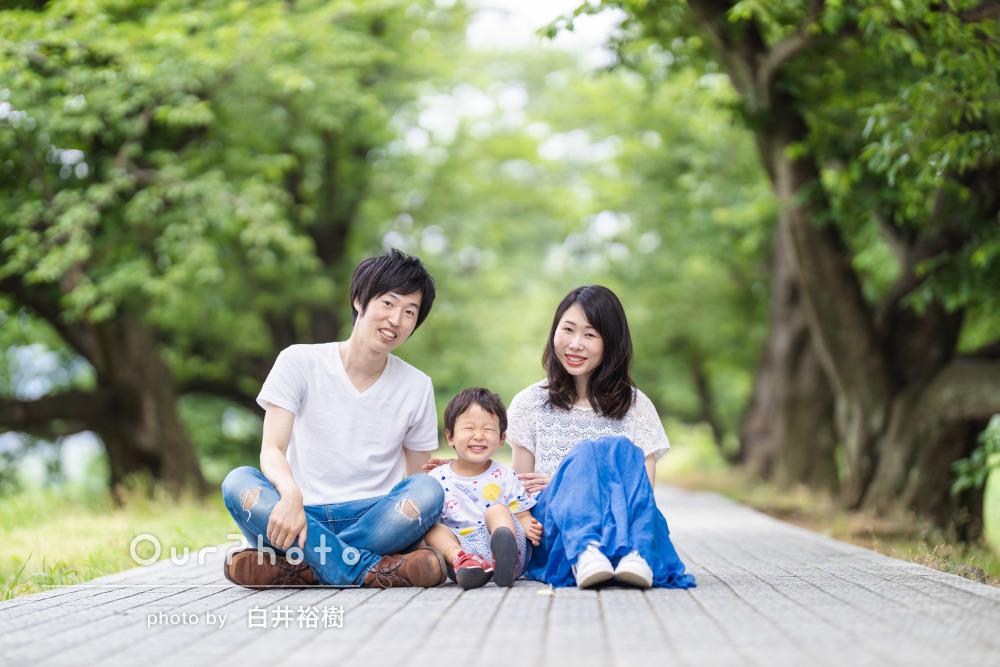「子供も緊張することなくとても楽しく」家族写真の撮影