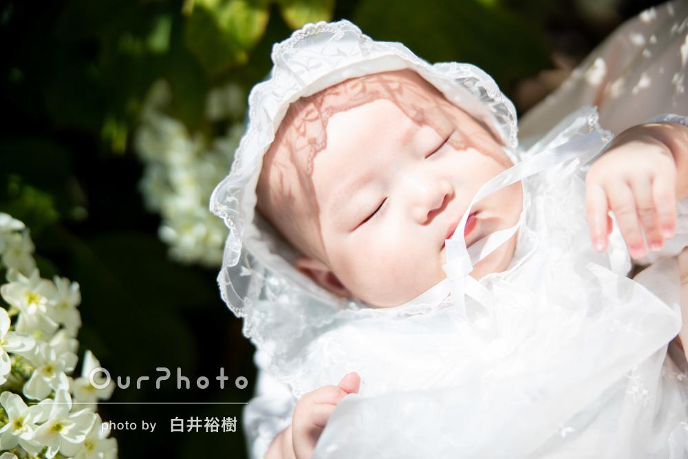 「お写真はとても綺麗で満足です」家族皆で賑やかなお宮参りの撮影