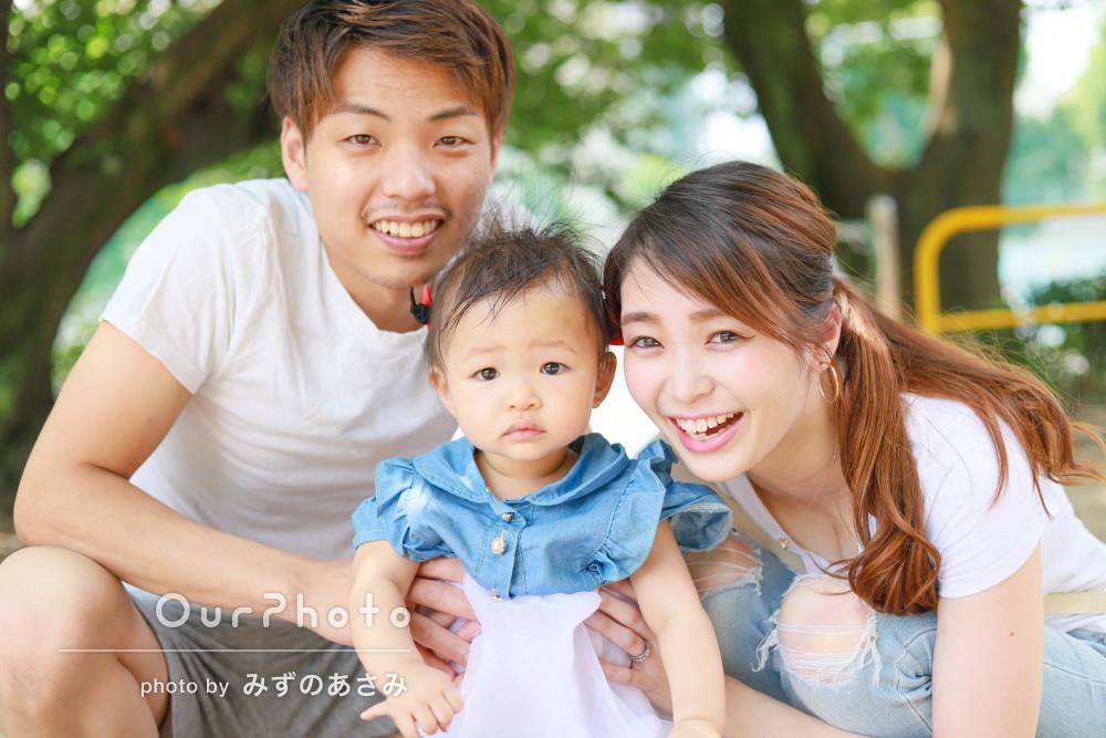 「とっても丁寧に綺麗に写真を撮っていただきました」家族写真の撮影