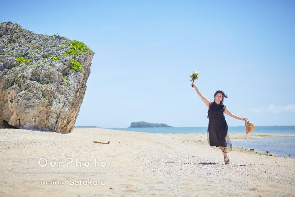 「初めての撮影なのに全然緊張しませんでした」沖縄のビーチで旅行写真